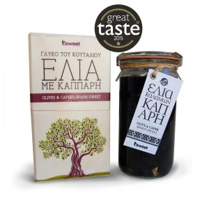 Great Taste Awarded Greek Preserve Kalamon Olives with Capers