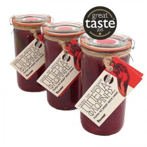 Great Taste Awarded Greek Preserve Florina's Red Pepper